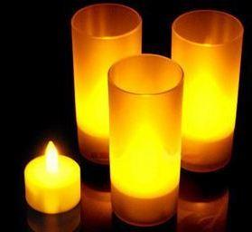 led-свечи в стакане