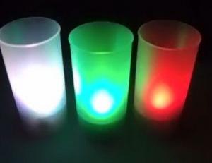 Светодиодная свеча в стакане