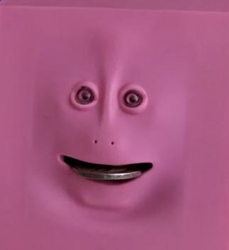 Жующая копилка розовая