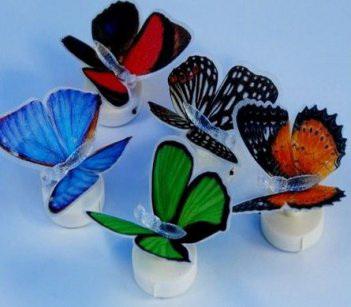 Бабочки светодиодные