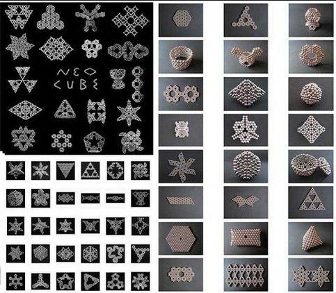 Фигуры из магнитных шариков