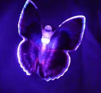 Светодиодная бабочка синяя