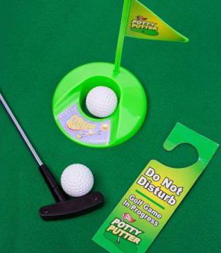 Игра гольф для туалета