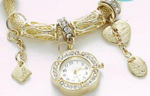 Часы-браслет пандора золото