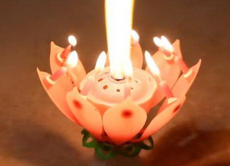 Музыкальная свеча с фейерверком