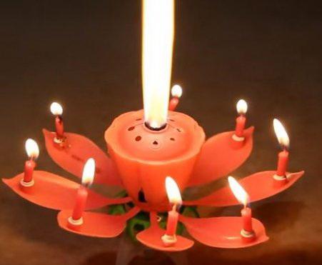 Праздничная музыкальная свеча