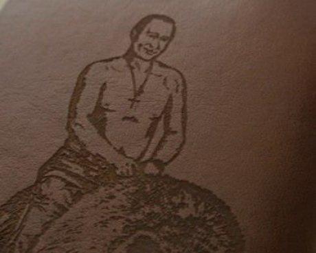 Путин на медведе портмоне