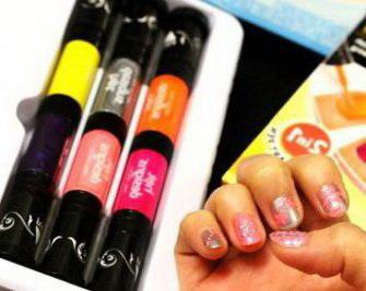 Набор фломастеров для ногтей