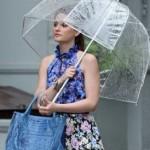 Зонт-трость прозрачный купол