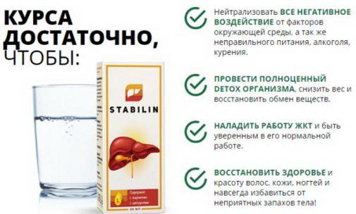 Стабилин действие