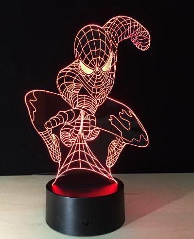 3D светильник SpiderMan