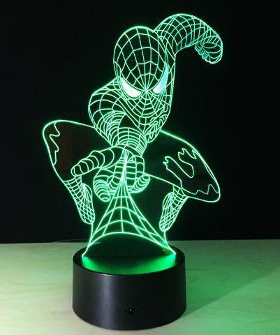 3D светильник человек паук