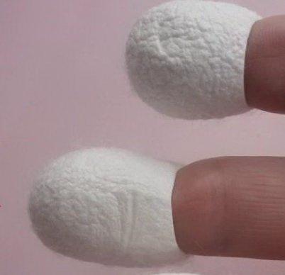 Кокон тутового шелкопряда для кожи